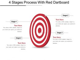 4 Stages Process With Red Dartboard