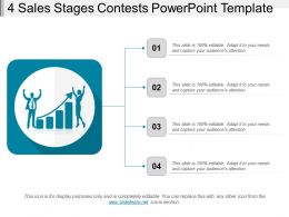 4 Stages Sales Contests Powerpoint Template