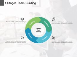 4 Stages Team Building Ppt Powerpoint Presentation Summary Cpb