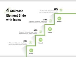 4 Staircase Element Slide With Icons