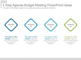 4 Step Agenda Budget Meeting Powerpoint Ideas