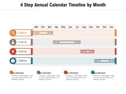 4 Step Annual Calendar Timeline By Month