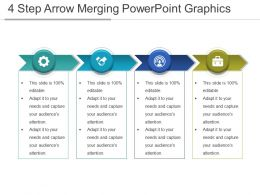 4 Step Arrow Merging Powerpoint Graphics