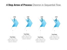 4 Step Arrow Of Process Chevron In Sequential Flow