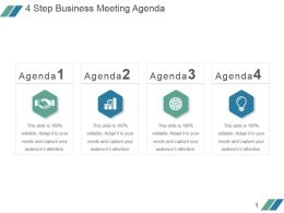 4 Step Business Meeting Agenda Example Ppt Presentation
