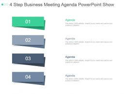 4 Step Business Meeting Agenda Powerpoint Show