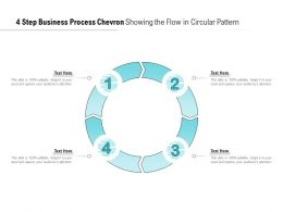 4 Step Business Process Chevron Showing The Flow In Circular Pattern