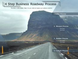 4 Step Business Roadway Process