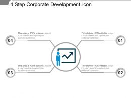 4 Step Corporate Development Icon Sample Of Ppt