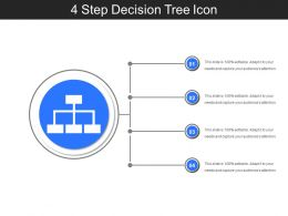 4 Step Decision Tree Icon Sample Of PPT Presentation