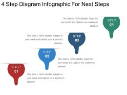 4 Step Diagram Infographic For Next Steps Powerpoint Templates
