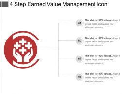 4 Step Earned Value Management Icon