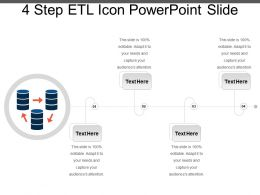 4 Step Etl Icon Powerpoint Slide