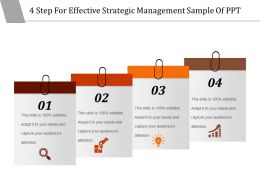 4 Step For Effective Strategic Management Sample Of Ppt