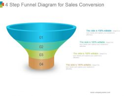 4 Step Funnel Diagram For Sales Conversion Powerpoint Ideas