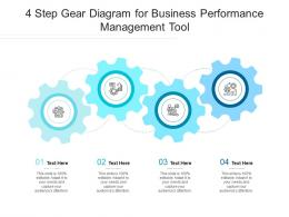 4 Step Gear Diagram For Business Performance Management Tool Infographic Template