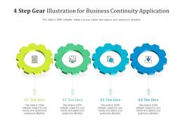 4 Step Gear Illustration For Business Continuity Application Infographic Template