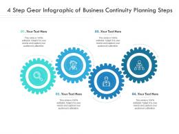 4 Step Gear Of Business Continuity Planning Steps Infographic Template