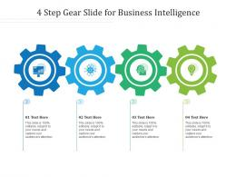 4 Step Gear Slide For Business Intelligence Infographic Template