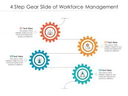 4 Step Gear Slide Of Workforce Management Infographic Template
