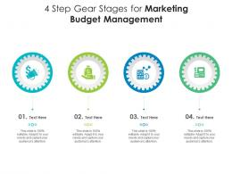 4 Step Gear Stages For Marketing Budget Management Infographic Template