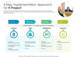 4 Step Implementation Approach For IT Project