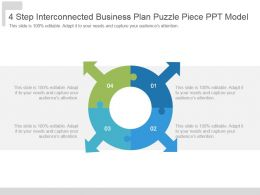 4 Step Interconnected Business Plan Puzzle Piece Ppt Model