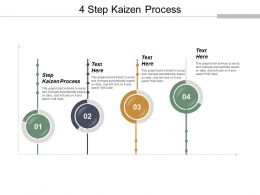 4 Step Kaizen Process Ppt Powerpoint Presentation Pictures Example Introduction Cpb