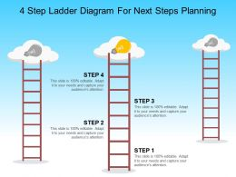 4 Step Ladder Diagram For Next Steps Planning Powerpoint Graphics