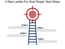 4 Step Ladder For Goal Target Next Steps Powerpoint Guide