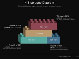 4 Step Lego Diagram Sample Of Ppt