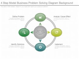 4 Step Model Business Problem Solving Diagram Background