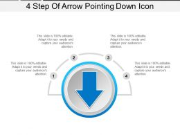4 Step Of Arrow Pointing Down Icon