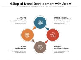 4 Step Of Brand Development With Arrow