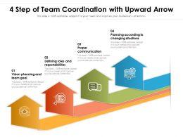 4 Step Of Team Coordination With Upward Arrow