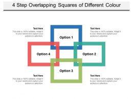 4 Step Overlapping Squares Of Different Colour