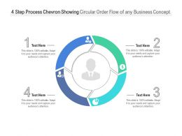 4 Step Process Chevron Showing Circular Order Flow Of Any Business Concept