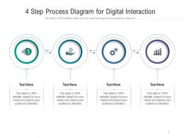 4 Step Process Diagram For Digital Interaction Infographic Template