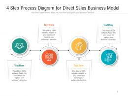 4 Step Process Diagram For Direct Sales Business Model Infographic Template