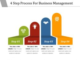 4 Step Process For Business Management Powerpoint Templates