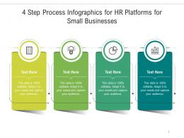 4 Step Process For HR Platforms For Small Businesses Infographic Template
