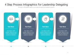 4 Step Process For Leadership Delegating Infographic Template