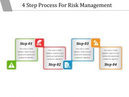 4 Step Process For Risk Management Powerpoint Slide Show