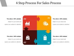 4 Step Process For Sales Process Powerpoint Shapes