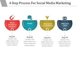 4 Step Process For Social Media Marketing Powerpoint Show