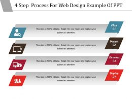 4 Step Process For Web Design Example Of Ppt