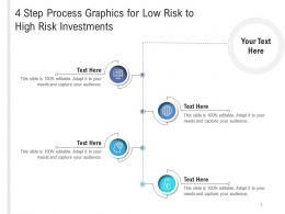4 Step Process Graphics For Low Risk To High Risk Investments Infographic Template