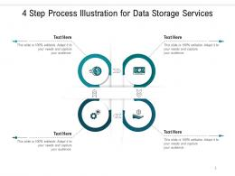 4 Step Process Illustration For Data Storage Services Infographic Template