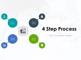 4 Step Process Information Search Evaluation Business Improvement Strategy