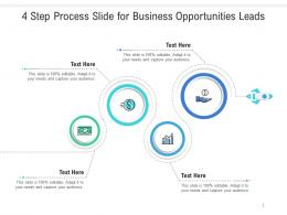 4 Step Process Slide For Business Opportunities Leads Infographic Template